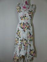 Neues Damen Sommer Kleid Gr S Blumenmuster Spitzen Details Rückenfrei