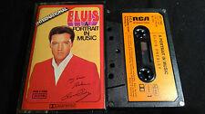 Elvis presley A portrait dans Music * rare allemand rca tape 1973 *