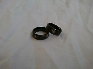NEW & FAST Superman HERO Band with 4 SILVER emblem around- Titanium Ring Size 10