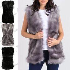 Abrigos y chaquetas de mujer chaleco de piel sintética