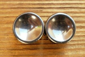 PAIR OF CONCAVE HEMATITE PLUGS GAUGES BODY JEWELRY DOUBLE FLARED