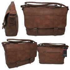 Borsa Uomo Tracolla Pelle  Lavoro Ufficio Coveri Messenger Bag Porta Laptop