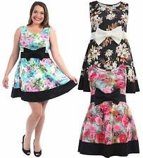 Casual Crew Neck Knee Length Dresses Plus Size for Women