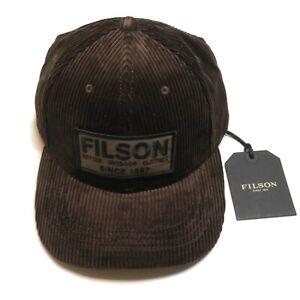 Filson Corduroy Logger Cap Dark Brown New Adjustable Hat 1st Quality
