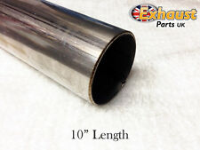 "250mm Section 10"" T304 TUBE 63mm Stainless Steel Exhaust Repair Pipe 2.5 2 1/2"""