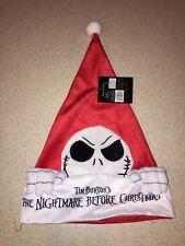 Disney's The Nightmare Before Christmas Jack Skellington Santa Hat 25 Year Annv.