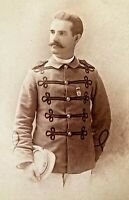 ORIGINAL - INDIAN WARS ERA OHIO STATE NATIONAL GUARD SOLDIER CABINET PHOTO c1880