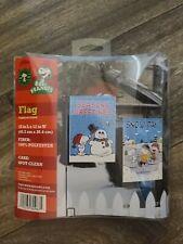 Nip Peanuts Snoopy 12X18 Mini Garden Yard Flags New - Season Greeting Snow Day