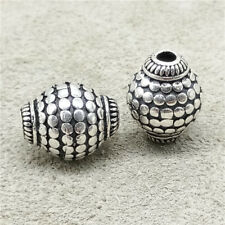 925 Sterling Silver Olive Oval Bicone Beads for Bracelet