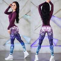 3D Digital Print Women Fashion Yoga Running Gym Leggings Fitness Sports Trousers