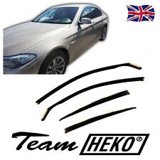 BMW 5 SERIES F10 4 DOOR SALOON 2010-2016 WIND DEFLECTORS 4pc HEKO TINTED