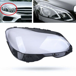 For Benz W212 E-Class E350 2014 2015 2016 Headlight Clear Lens Cover Right Side
