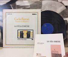 CARLO FERRARI - LA VITA COMUNE 2 LP EDIZIONI PAOLINE 1968 CR 30.31-32