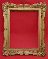 Gemälderahmen 19. Jahrhundert  - Holz, Ornamente Masse, vergoldet    (# 2647)