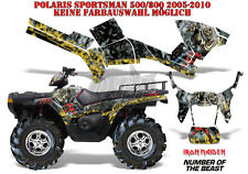 AMR Racing DECORO GRAPHIC KIT ATV POLARIS SPORTSMAN modelli IRON MAIDEN-notb B