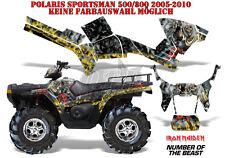 AMR Racing DECORO GRAPHIC KIT ATV POLARIS SPORTSMAN modelli IRON MAIDEN-notb B