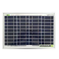 Pannello Solare Fotovoltaico 10W 12V Poli x Batteria Barca Camper Auto + Ebook