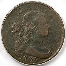 1803 S-264 Pcgs Draped Bust Large Cent Coin 1c Ex; Langseth-Loring-Ellsworth