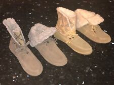 New Womens SANUK SUN DOWN CHILL Suede Booties Chestnut Grey Ankle Boots Surfer