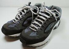 Men's Skechers Memory Foam Walking Training Running Shoes Gray/Black Size 10