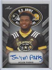 JA'LEN PARKS  Autograph 2017 Leaf US Army All American Tour Auto 4/15 Florida St