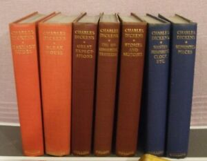 HARDBACK (RARE) CLASSIC BOOKS  ** SEVEN DIFFERENT by CHARLES DICKENS ** USED
