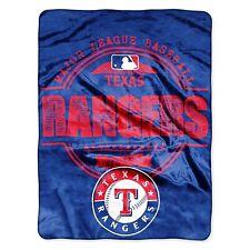 Texas Rangers Structure Super Plush Micro Raschel 46x60 Super Soft Throw Blanket
