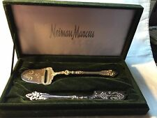 TWO PIECE ORNATE CHEESE SERVING SET FROM NEIMAN MARCUS