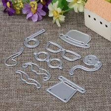 9Pcs/Set Male Hat Glasses Beard Pipe Metal Cutting Dies Stencil DIY Scrapbooking