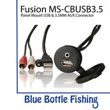 Fusion MS-CBUSB3.5 Panel Mount USB & 3.5mm AUX connector