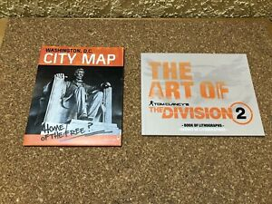ARTBOOK MAP from THE DIVISION 2 DARK ZONE NEW SONY PS4 XBOX ONE