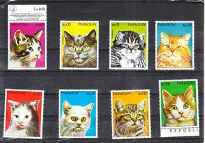 PARAGUAY 1976 CATS SET MNH VF