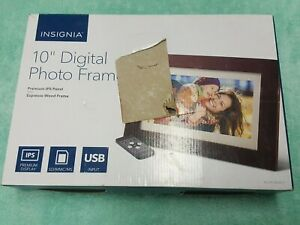 "Insignia 10"" Widescreen LED Digital Photo Frame-Brand New in Open Box"