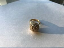 NWT COACH LARGE PAVE BALL RING F96263 GOLD SIZE 8