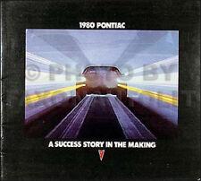 1980 Pontiac and Firebird and Trans Am Sales Catalog 80
