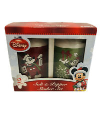 Disney Christmas Salt & Pepper Shakers, Mickey & Millie, Zak, Nib.