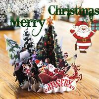 Handgemachte 3D Pop Up Frohe Weihnachten Gruß Weihnachtskarten Weihnachtsg Neu