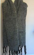 Echarpe XXL homme femme 100% laine gris chine 47 X 186 cm cfa16d5c00c