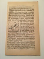 K43) Map of Wyoming Pennsylvania Forts American Revolution 1860 Engraving
