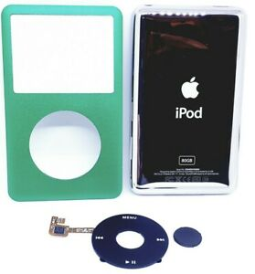 Ipod Classic 6-7th gen 80gb NEW Green faceplate Front Cover clickwheel&backplate