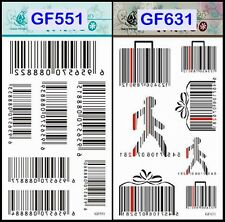 Black Bar code Pattern - Body Art Temporary Tattoo Sticker