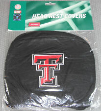 NCAA NWT HEAD REST COVERS -SET OF 2- TEXAS TECH RED RAIDERS
