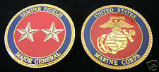 MAJOR GENERAL TWO STAR CHALLENGE COIN US MARINES PROMOTION GIFT 0-8 PIN UP WOW