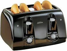 4 Slice Toaster Bread Electric Four Wide Slots Bagel Burger Buns Kitchen Toaster