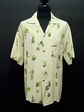 AUTH HAWAII VINTAGE 50s Camicia Uomo Rockabilly Man Silk Hawaian Shirt Sz.XL