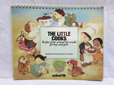 Vintage The Little Cooks Recipie Cook Book Unicef Spiral Bound w/ Stand 1987