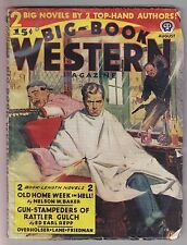 Big Book Western Aug 1945 Pulp Ed Earl Repp Wayne D Overholser Giff Cheshire