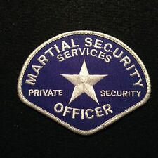 Martial Private Security Services Officer Patch / Guard