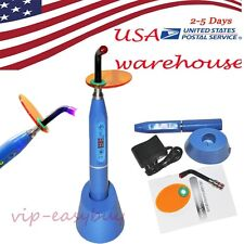 USA blue Dental 5W Wireless Cordless LED Curing Light Lamp with charging 1500mw