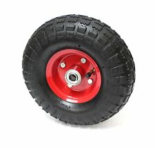 "10"" 4.10/3.50-4 PNEUMATIC AIR PUMP UP JOCKEY WHEEL TYRE TROLLEY DOUBLE HUB"